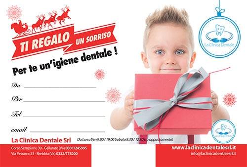 Cartolina Ti Regalo Un sorriso 1 - La Clinica Dentale Gallarate